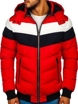 Červená pánská zimní bunda Bolf 5808