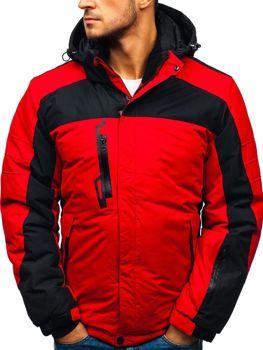 Červená pánská zimní lyžářská bunda Bolf HZ8112