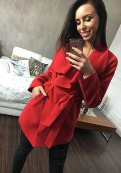 Červený dámský kabát Bolf 1726
