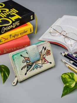 Dámská vícebarevná kožená peněženka 3066