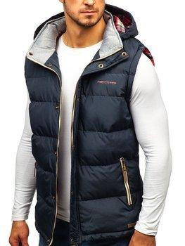 Grafitová pánská vesta s kapucí Bolf BK142