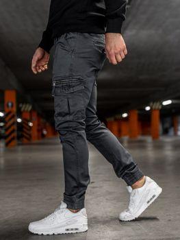 Grafitové pánské jogger kapsáče Bolf KA528