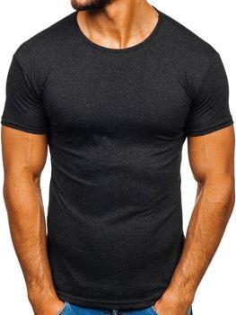 Grafitové pánské tričko bez potisku Bolf 0001