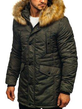 Khaki pánská zimní parka Bolf JK339
