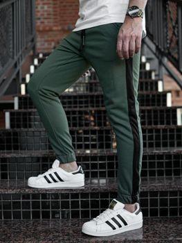 Khaki pánské jogger tepláky Bolf 11120