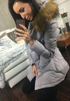 Lilová dámská zimní bunda Bolf 8074