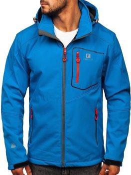 Modrá pánská softshellová bunda Bolf AB152