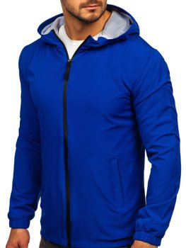 Modrá pánská sportovní bunda větrovka Bolf HH035
