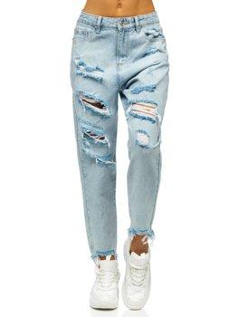 Modré dámské džíny mom fit Bolf WL1689
