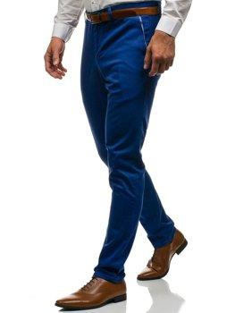 Modré pánské chino kalhoty Bolf 4326