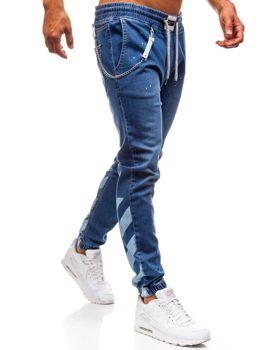 Modré pánské džínové baggy kalhoty Bolf 2040