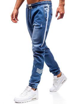 Modré pánské džínové jogger kalhoty Bolf 2055