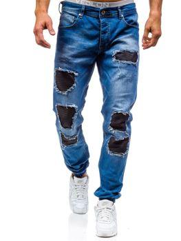 Modré pánské džínové jogger kalhoty Bolf 820