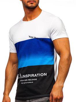 Modré pánské tričko s potiskem Bolf SS10919