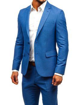 Modrý pánský oblek Bolf 19200-1