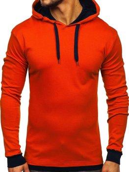 Oranžová pánská mikina s kapucí Bolf 145380