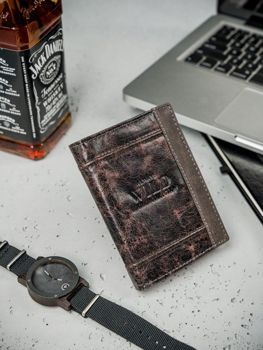 Pánská hnědá kožená peněženka 3163