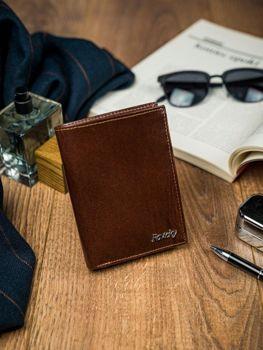 Pánská hnědá kožená peněženka 4516