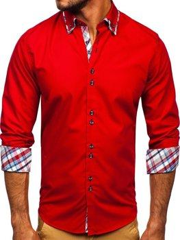 Pánská košile BOLF 4704 červená