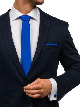 Pánská sada kravata, manžetové knoflíčky, světle tmavomodrý kapesníček Bolf KSP01
