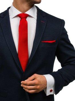 Pánská sada kravata, man?etové knoflí?ky, tmavě ?erveny kapesní?ek Bolf KSP01