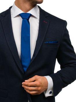 Pánská sada kravata, manžetové knoflíčky, tmavě modrý kapesníček Bolf KSP01
