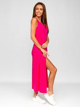 Růžové dlouhé dámské šaty Bolf 22129-1