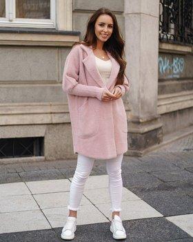 Růžový dámský kabát Bolf 7108