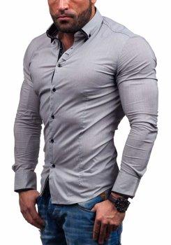 Šedá pánská košile Bolf 7188