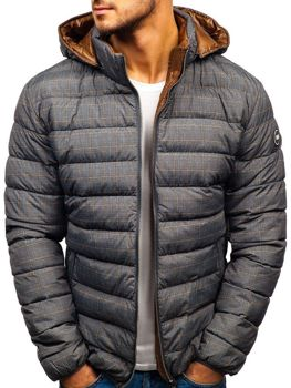 Šedá pánská zimní bunda Bolf 5713