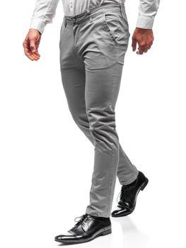 Šedé pánské chino kalhoty Bolf 2901