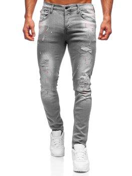Šedé pánské džíny regular fit Bolf R917