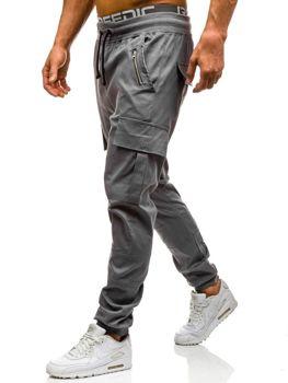 Šedé pánské jogger kapsáče Bolf 0707