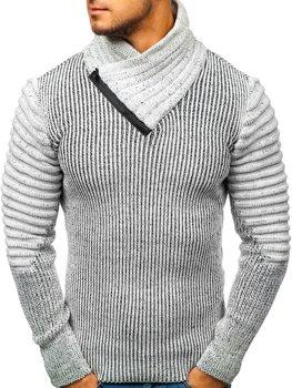 Šedo-černý pánský svetr Bolf 20002