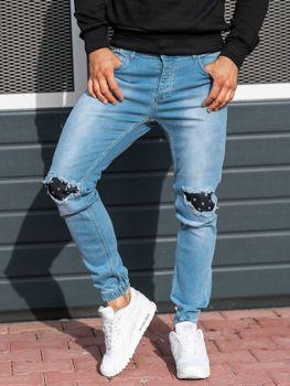 Světle modré pánské džínové jogger kalhoty Bolf 2044-1