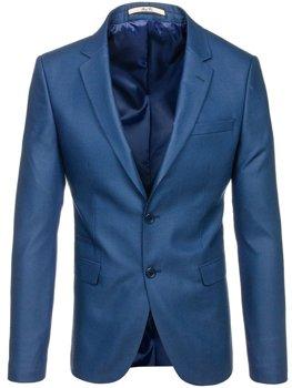 Světle modré pánské elegantní sako Bolf 1050