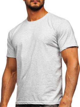 Světle šedé pánské tričko bez potisku Bolf 192397