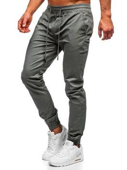 Světle zelené pánské jogger kalhoty Bolf KA951