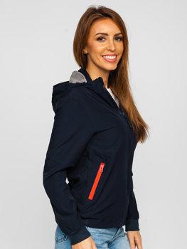 Tmavě modrá dámská sportovní přechodová bunda Bolf HM097