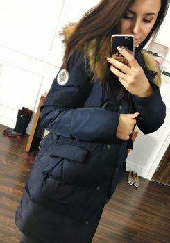 Tmavě modrá dámská zimní bunda Bolf 8065