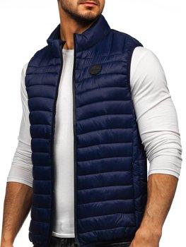 Tmavě modrá pánská prošívaná vesta Bolf 58M891