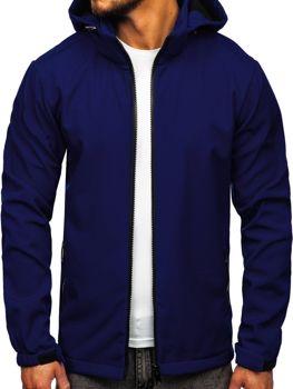 Tmavě modrá pánská softshellová přechodová bunda Bolf 56008