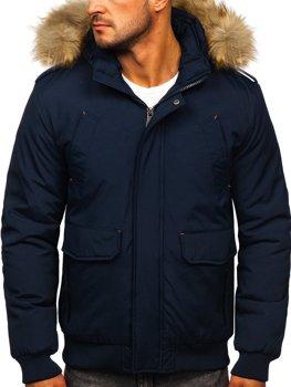 Tmavě modrá pánská zimní bunda Bolf 1770