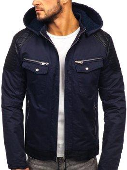 Tmavě modrá pánská zimní bunda Bolf 3613