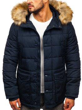 Tmavě modrá pánská zimní bunda parka alaska Bolf JK361
