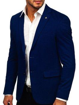 Tmavě modré elegantní pánské sako Bolf C191060