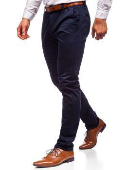 Tmavě modré pánské chino kalhoty Bolf KA6807