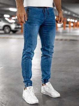 Tmavě modré pánské džínové jogger kahoty Bolf HY678