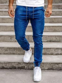 Tmavě modré pánské džínové jogger kalhoty Bolf KA1078
