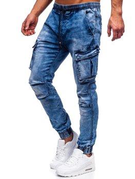Tmavě modré pánské džínové jogger kapsáče Bolf TF050